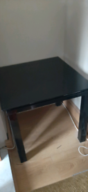 High gloss black table