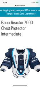 Bauer reactor 7000 chest protector sr small
