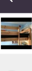 High sleeper single bed frame in new condition