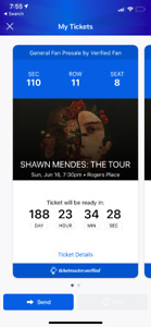 Shawn Mendes: The Tour Concert Tickets FOR SALE