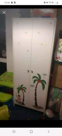 Childrens wardrobe and drawers
