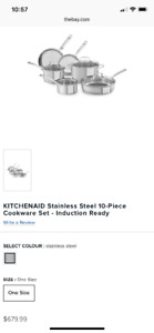 Kitchenaid 10 piece Stainless Steel Cookset - Brand New in Pack