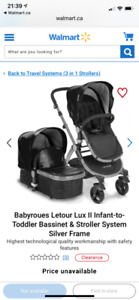 Stroller with brand new bassinet