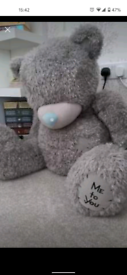 Giant me to you tatty teddy bear approx 60cm tall