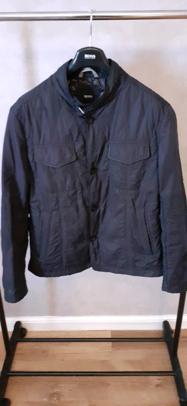 Hugo Boss Mens Black Bomber Style Jacket Size XL   in ...