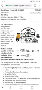 ID parts vw ALH high mileage kit for TDI diesel