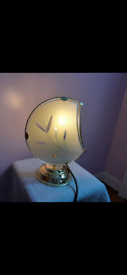Vintage BHS Glass Shadow Table Lamp