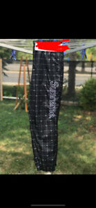 Surpreme x Lacoste Reflective Track Pants Black