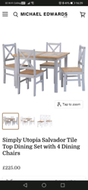 Tile top table and 4 chairs