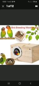 Nest Box Bird House Budgie Wood Breeding For Lovebird Parrotlets
