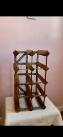 Wood And Metal Wine Rack