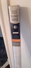 BRAND NEW white thermal blackout roller blind