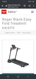 (SOLD) Roger black treadmill Mp3 with speakers