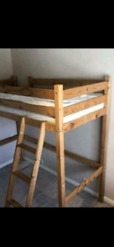 High sleeper single bed frame in excellent condition