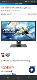 "Asus 27"" 1080p 165 Hz gaming monitor"