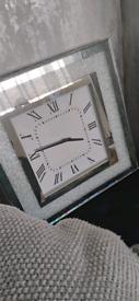 Crushed wall clock