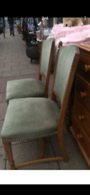 Beautiful Victorian children's chairs green