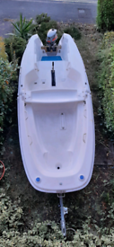 Ezyboat foldable 14 ft boat with Mariner 4 outboard engine