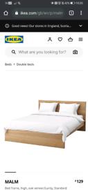 IKEA MALM Double bed fram