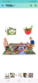 Dinosaur toy play mat
