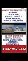 GENERAL CONTRACTING, HOUSES, SHOPS, GARAGES, CONCRETE WORK, RENO