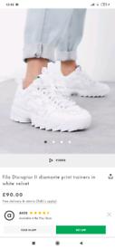 Fila Disruptor II Diamante trainers size UK 4