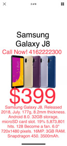 Samsung Galaxy J8 32 GB Dual Camera $399