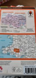 OS explore map brecon beacons national Park