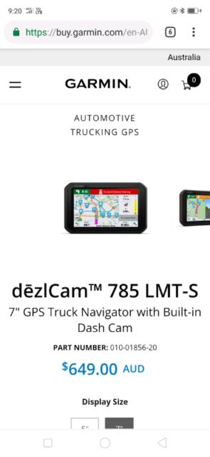 Garmin dezlCam 785 LMT-S Truck Navigator BRAND NEW