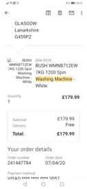 Bush 7kg 1200 Spin Washing machine