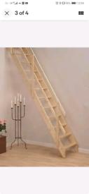 Space saver loft ladder