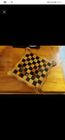 Chess set, with cast iron pieces