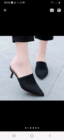 Knit Mesh Breathable High heels Mules slippers women 2020 summer shoes