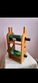 Olive & Thyme Wooden Three Bottle Wine Rack