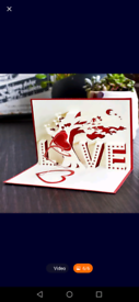 FREE delivery Hand crafted 3D out Anniversary / Valentines day card.