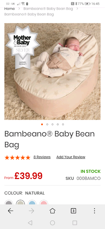 Astonishing Bambeano Baby Bean Bag In Donaghadee County Down Gumtree Ibusinesslaw Wood Chair Design Ideas Ibusinesslaworg