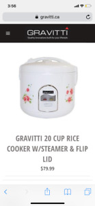 New Gravitti 20 cup rice cooker