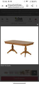 Extending table and 6 chairs NEW