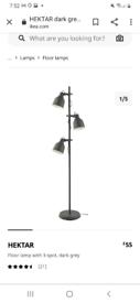 Floor lamp with 3-spot, dark grey