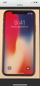 iPhone X new in box includes 2 year AppleCare +