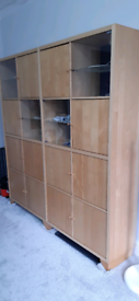 16 cube wooden shelves cube storage glass cabinet