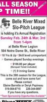 Belle River Mixed League Slow Pitch Registration