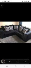 Nice black corner sofa and a 2 seater sofa