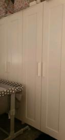 BRIMNES Wardrobe, white, 78x190cms