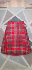 Kilt Red Tartan Womens Size 16 UK