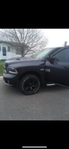 "Black 20"" rims from a Dodge Ram 2016"