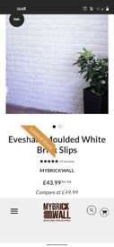 Brand new white brick slips