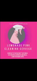 Lemonade pink cleaning service