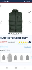 Trespass mens padded gilet size XL £20