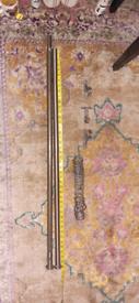 Curtain pole high quality heavy steel long